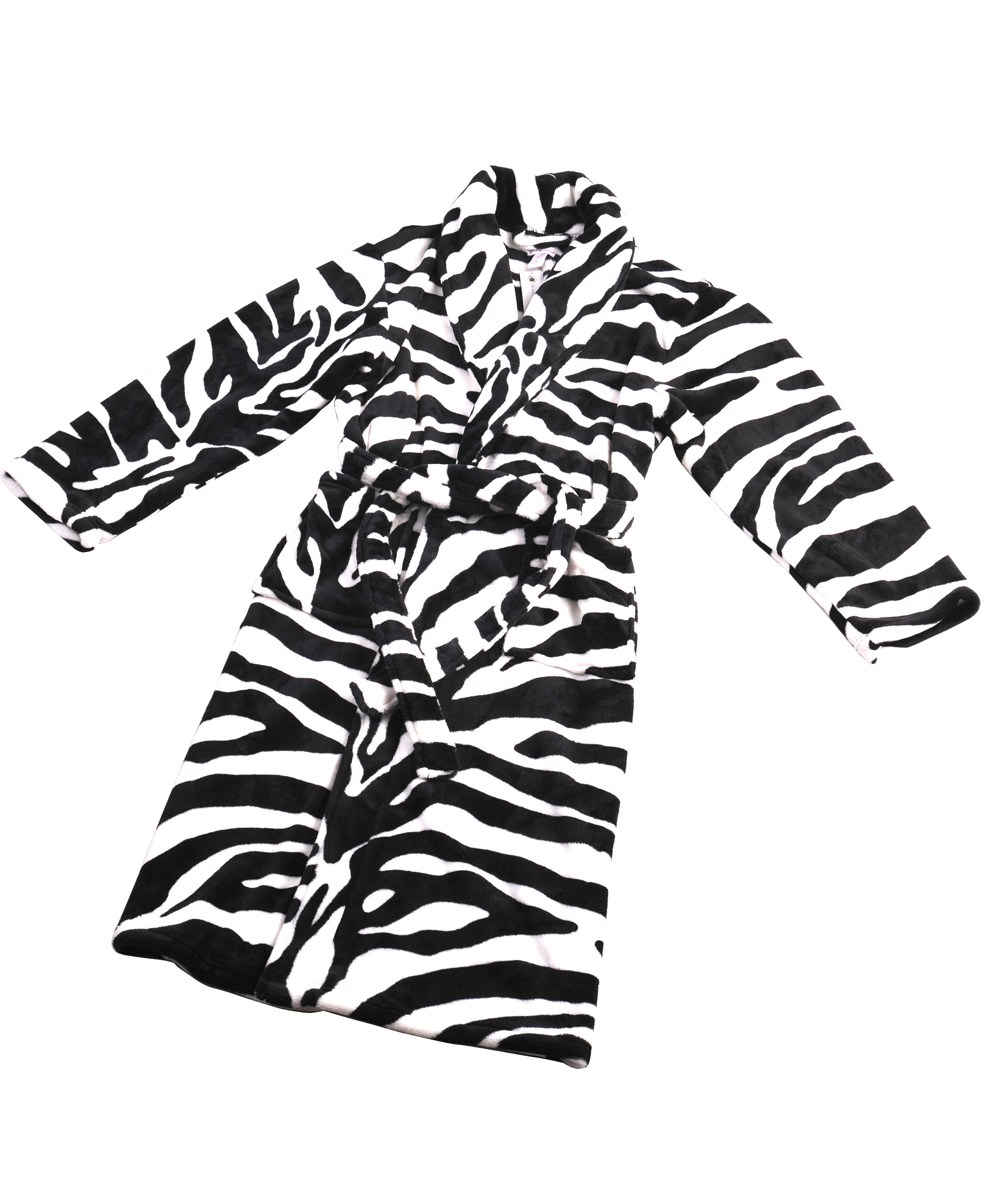 Home Soft Things Zebra Flannel Fleece Bathrobe  c9046ab4b