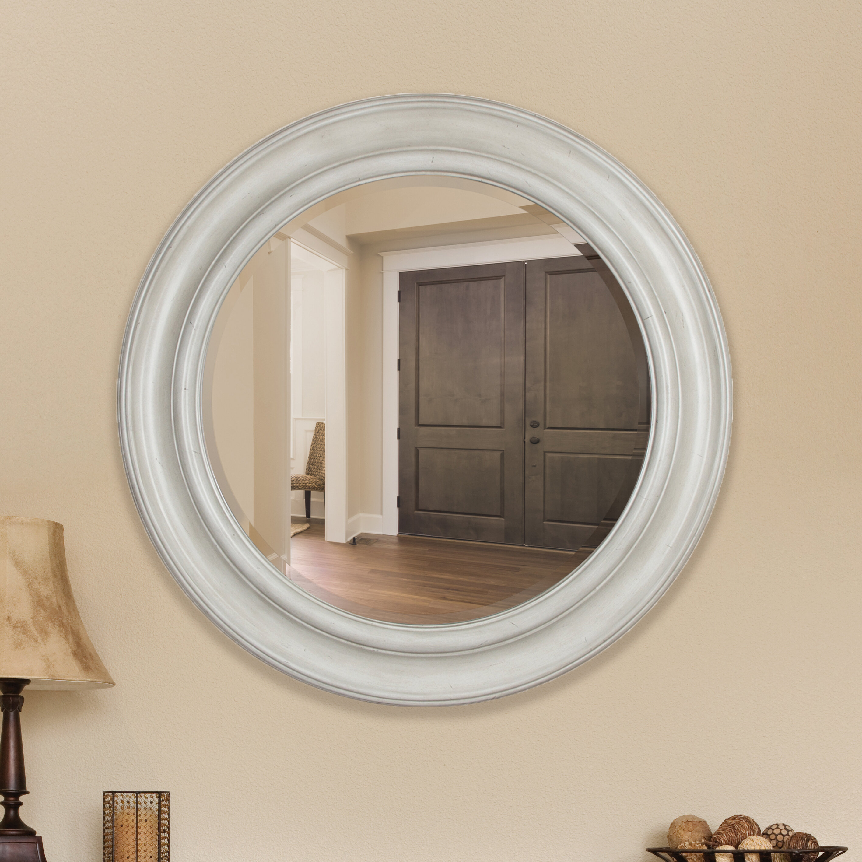 Apprehensive Antique Wooden Wall Hanging Mirror Great Vintage Condition Online Discount Other Antique Furniture Antique Furniture