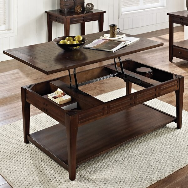 World Menagerie Riverside Coffee Table With Lift Top Reviews Wayfair