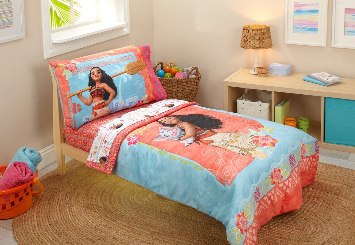 Moana 4 Piece Toddler Bedding Set