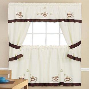 5 Piece Kitchen Curtain Set