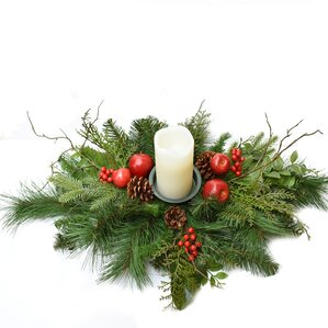 Holiday Pine and Apple Candelabrum