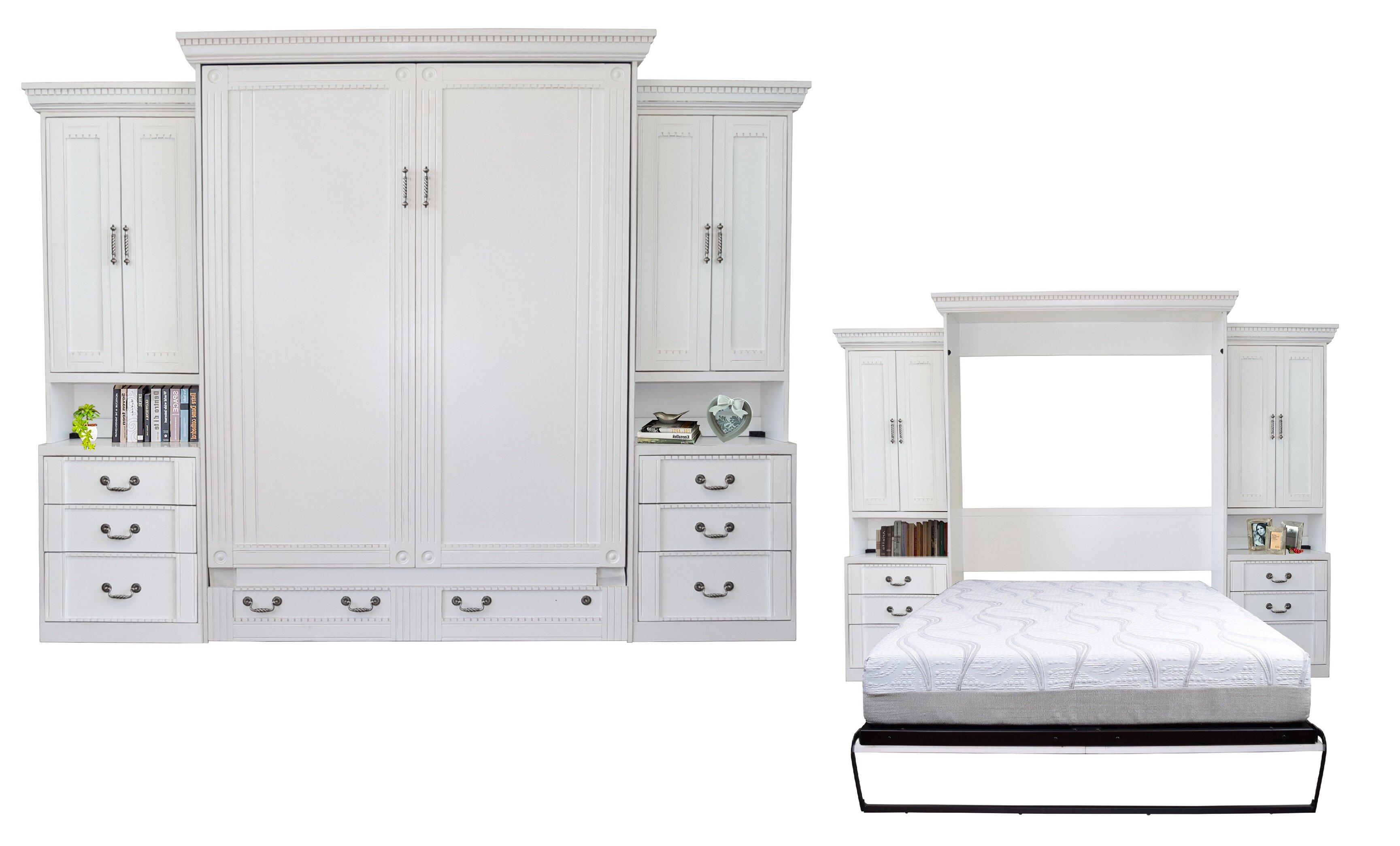 Rosecliff Heights Cedarville Queen Storage Murphy Bed Reviews Wayfair