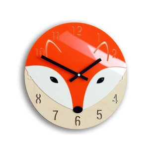 Fox 30cm Wall Clock by Zoomie Kids