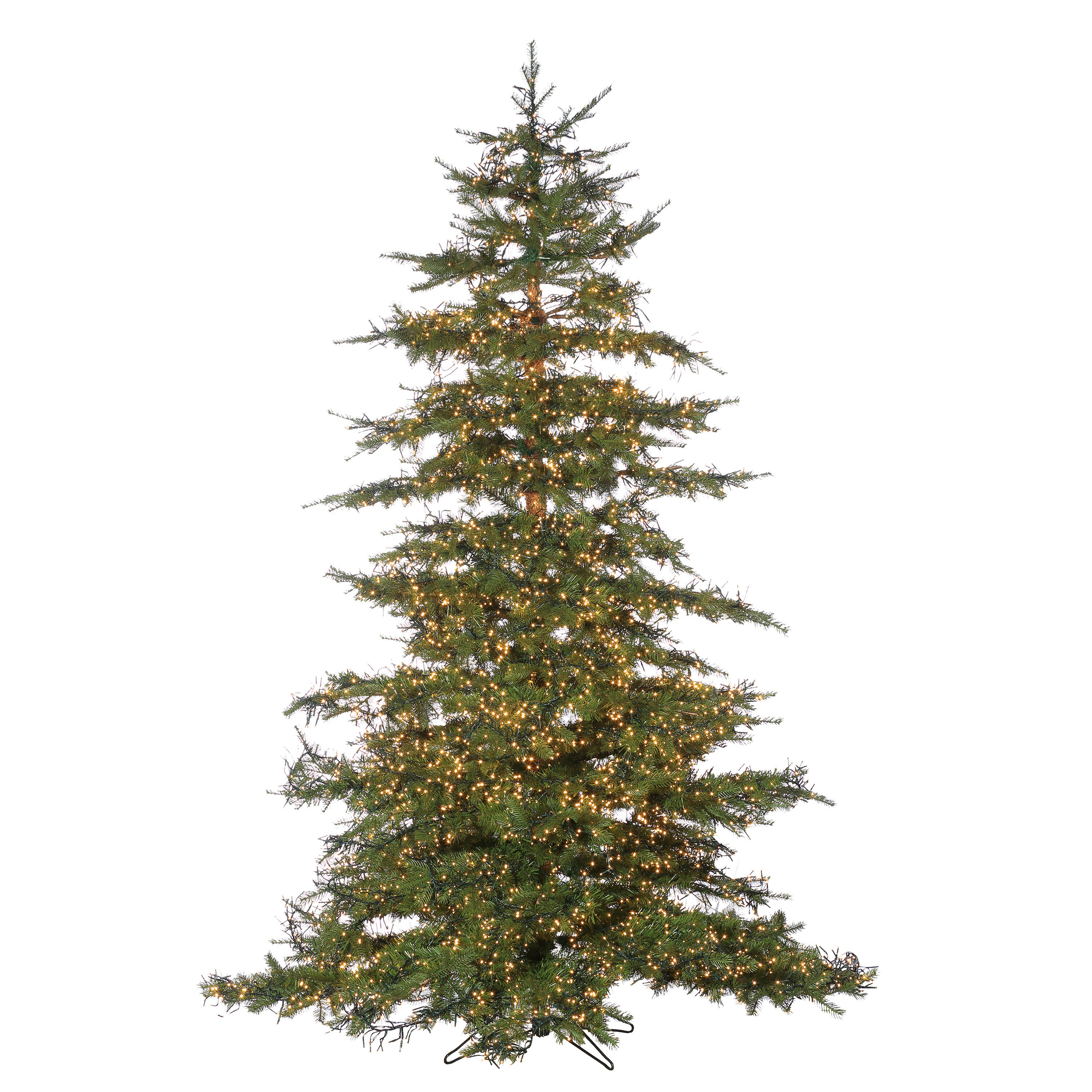 Sterling Inc Natural-Cut Monaco 7.5\' Green Pine Artificial Christmas ...