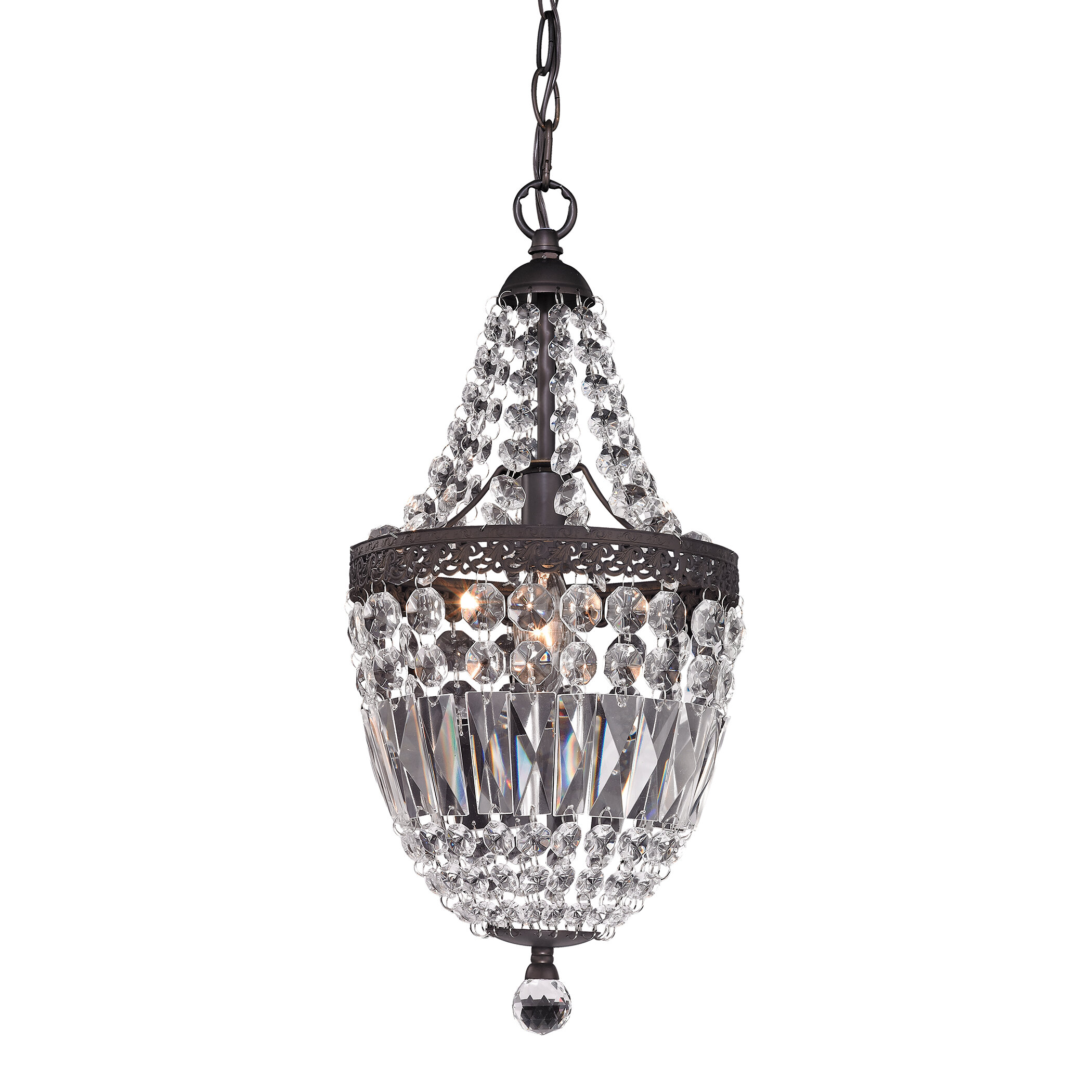 House of hampton spokane 1 light crystal pendant reviews wayfair