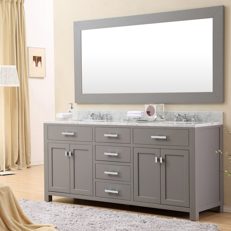 """Wayfair Bathroom Vanity Andover Mills Raven 72"""" Freestanding Double Sink Bathroom Vanity"""