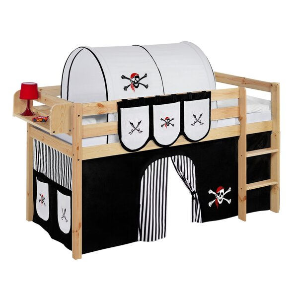lilokids hochbett pirat mit vorhang 90 x 200 cm. Black Bedroom Furniture Sets. Home Design Ideas