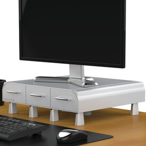 'Perch' PC, Laptop, IMAC Monitor Stand and Desk Organizer