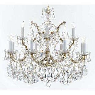 Large outdoor hanging light wayfair bellefonte hanging 13 light crystal chandelier aloadofball Choice Image