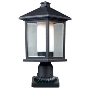 Olive Outdoor 1-Light Rectangle Pier Mount Light