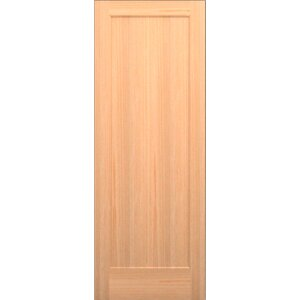 Wood 1 Panel Slab Interior Door