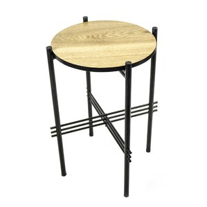 Metal & Wooden End Table by Sagebrook Home