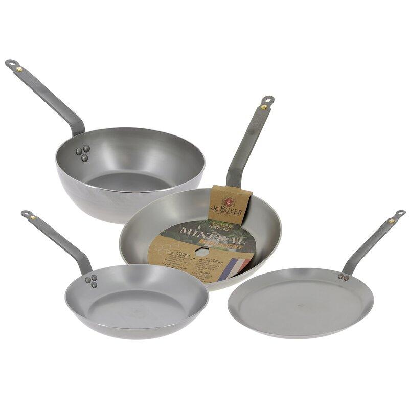 de Buyer Mineral B Element 4-Piece Cookware Set   Wayfair.co.uk