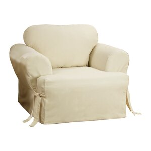 Cotton Duck T Cushion Armchair Slipcover