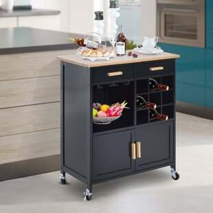 Elliot Stemware Storage Kitchen Cart