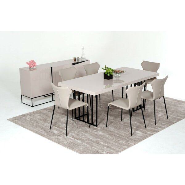 Wade logan glasgow metal base dining table reviews - Dining room furniture glasgow ...