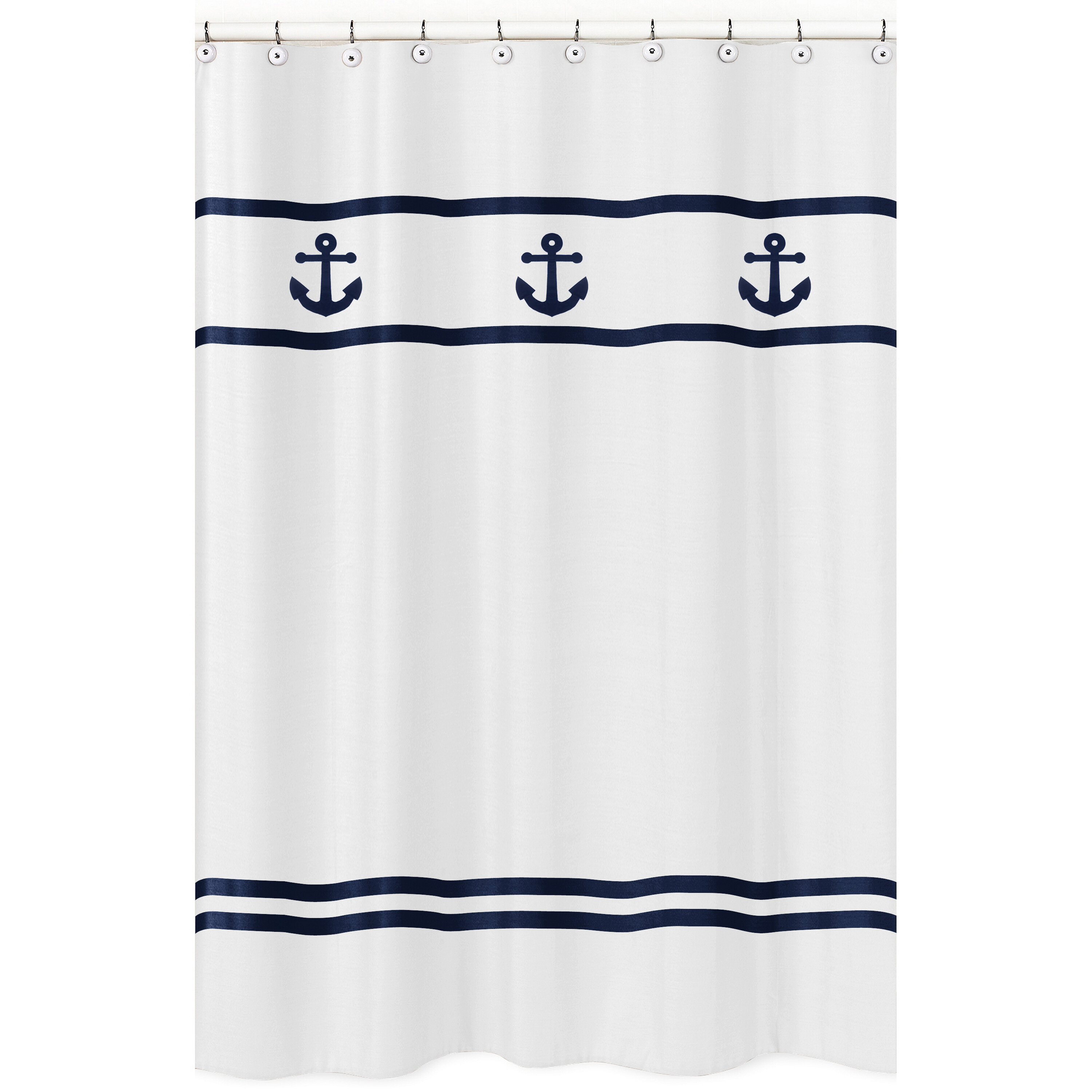 Anchors Away Cotton Single Shower Curtain Reviews