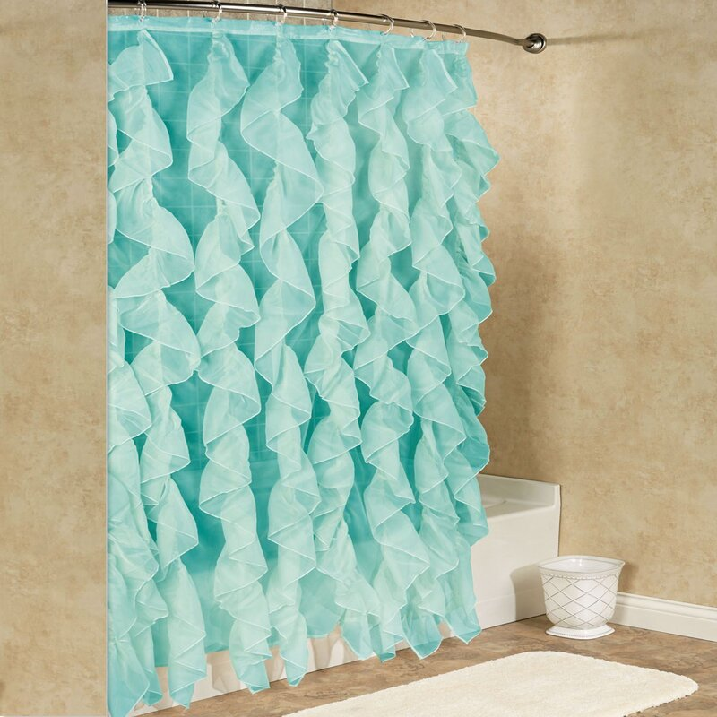 Sweet Home Collection Chic Sheer Voile Vertical Waterfall Ruffled ...