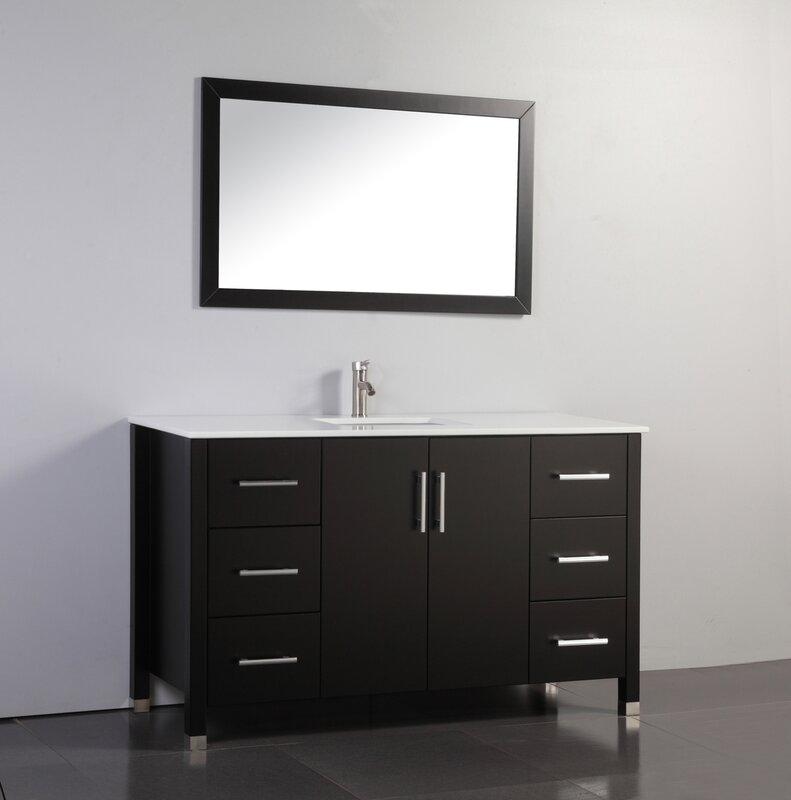 modern single sink bathroom vanities. Prahl Modern 60\ Single Sink Bathroom Vanities E