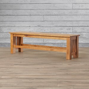 Corwin Wood Bench by Loon Peak