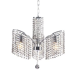Keith 3-Light Crystal Chandelier