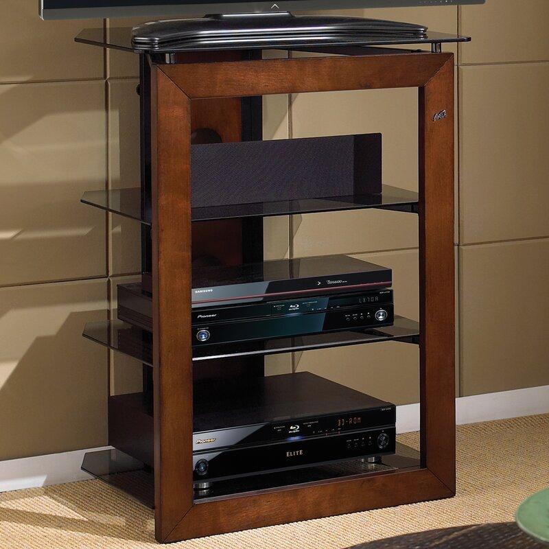 Modern Contemporary Wood Audio Rack