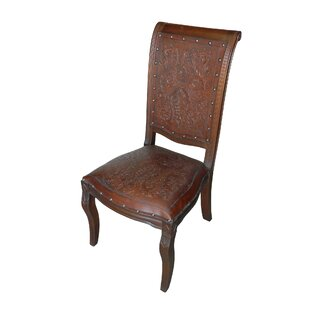 Eliza Genuine Leather Upholstered Dining Chair (Set of 2)