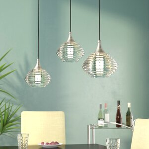 Limewood 1-Light Globe Shade Glass Mini Pendant
