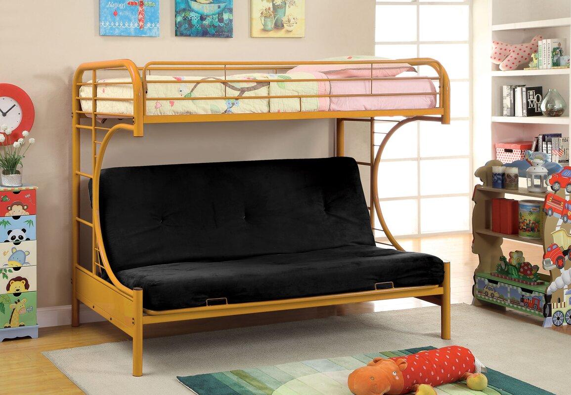prism twin futon bunk bed hokku designs prism twin futon bunk bed  u0026 reviews   wayfair  rh   wayfair