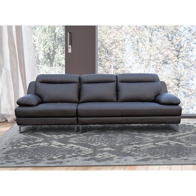 Orren Ellis Romaine Standard Sofa Upholstery: Dark Brown