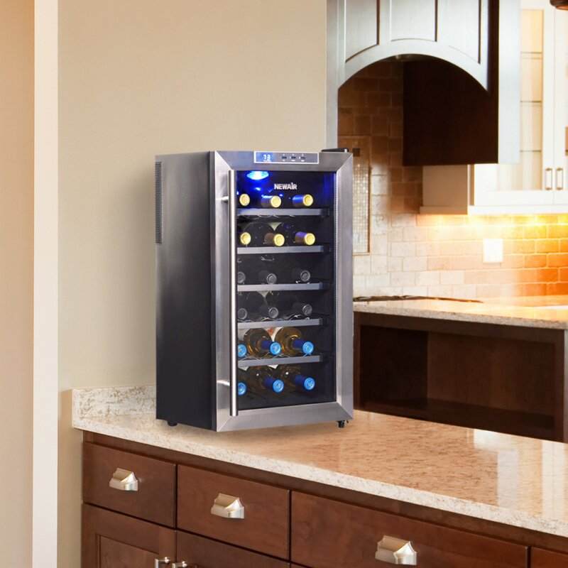 dd500fd8b45 NewAir 18 Bottle Single Zone Freestanding Wine Cooler   Reviews ...
