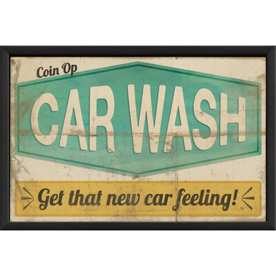 The Artwork Factory Coin Op Car Wash Framed Vintage