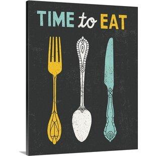 U0027Retro Diner Time To Eatu0027 By Michael Mullan Graphic Art Print