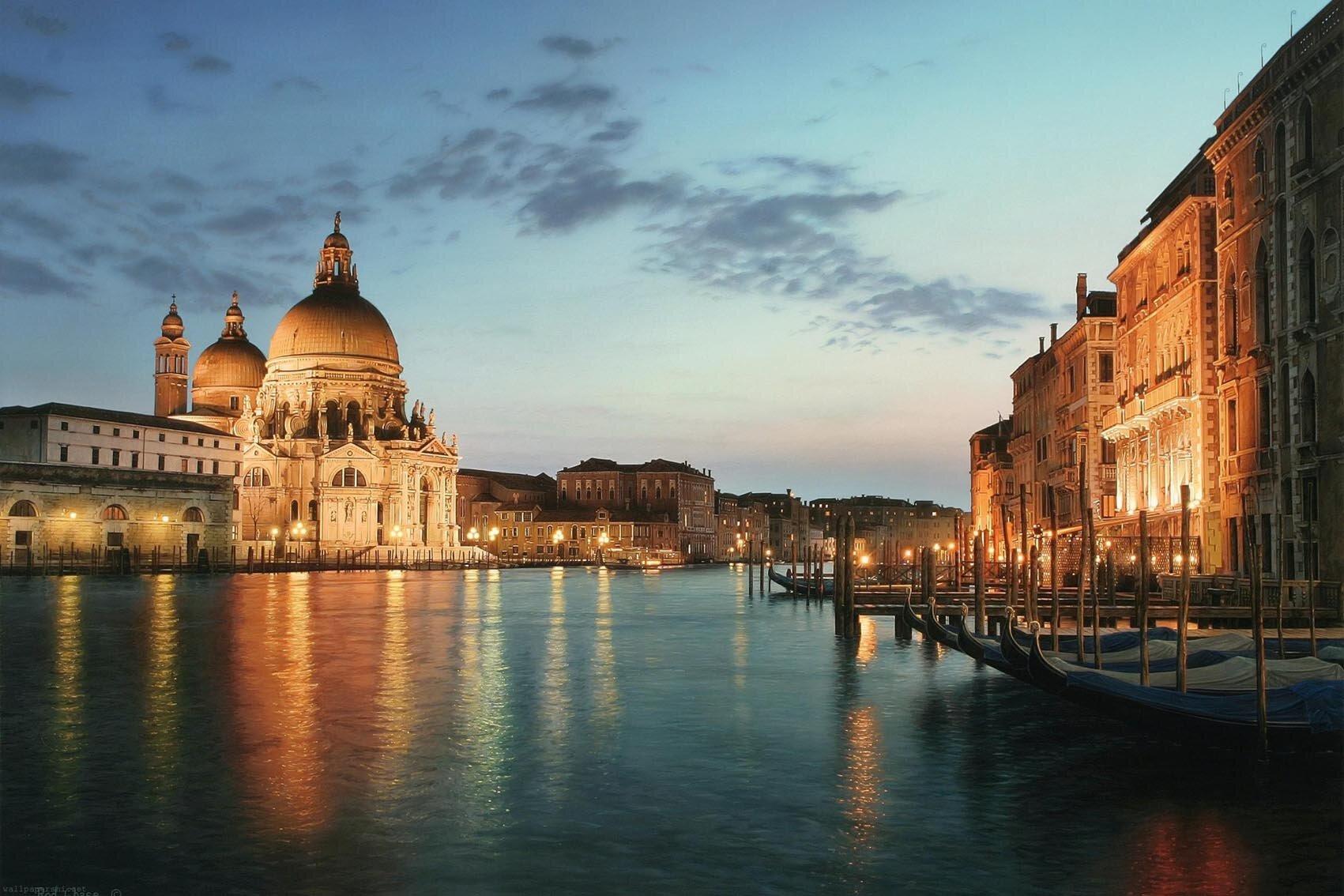 Northlight LED Lighted Venice City Italy Sunset Scene Photographic ...