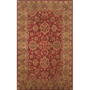Petra Agra Hand Tufted Wool Red Area Rug
