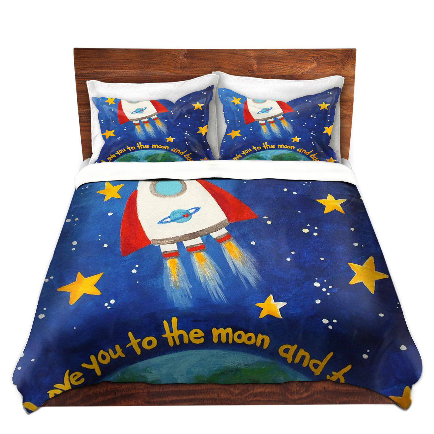 Rockets To The Moon: East Urban Home Love You To The Moon Rocket Duvet Cover