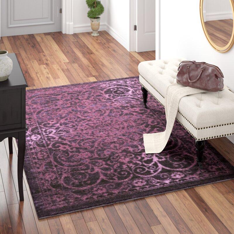Charlton Home Landen Purple Area Rug Reviews Wayfair