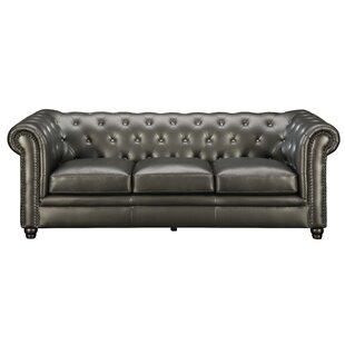 Vanallen Leather Chesterfield Sofa