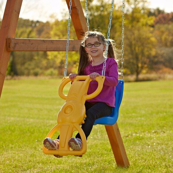 Swing N Slide Wind Rider Glider Swing Amp Reviews Wayfair