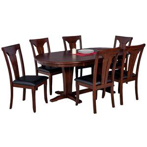Doretha 7 Piece Dining Set with Dual Pedestal Table by Darby Home Co