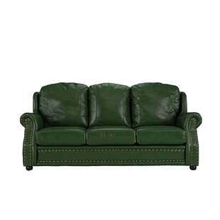 Bon Seafoam Green Leather Sofa | Wayfair