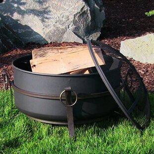Flanigan Cauldron Steel Wood Burning Fire Pit