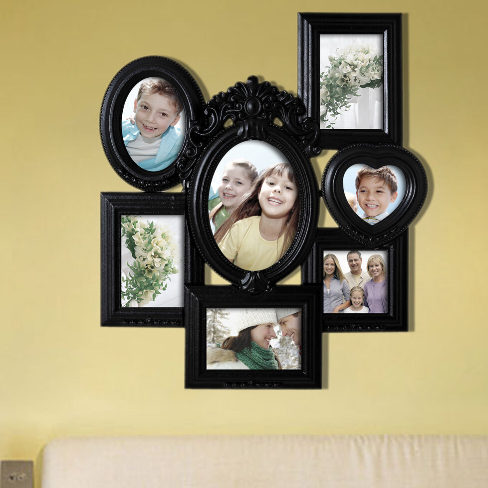 7 Opening Decorative Wall Hanging Collage Picture Frame & Reviews ...