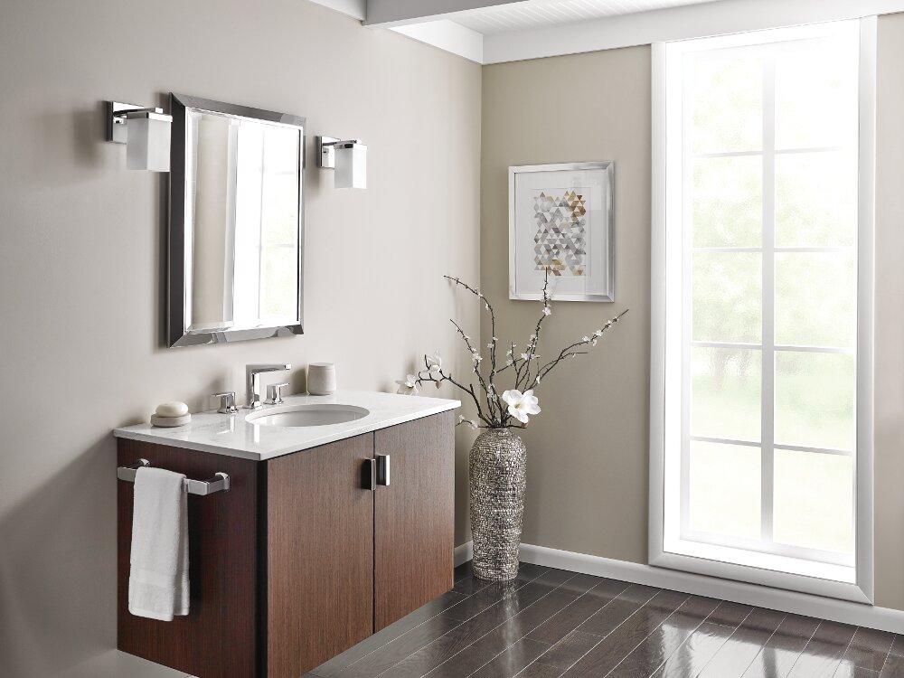 Moen Via Standard Bathroom Faucet Double-Handle Lever & Reviews ...