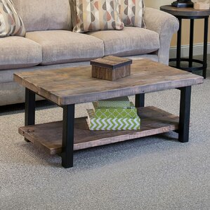 reclaimed wood coffee tables you'll love | wayfair