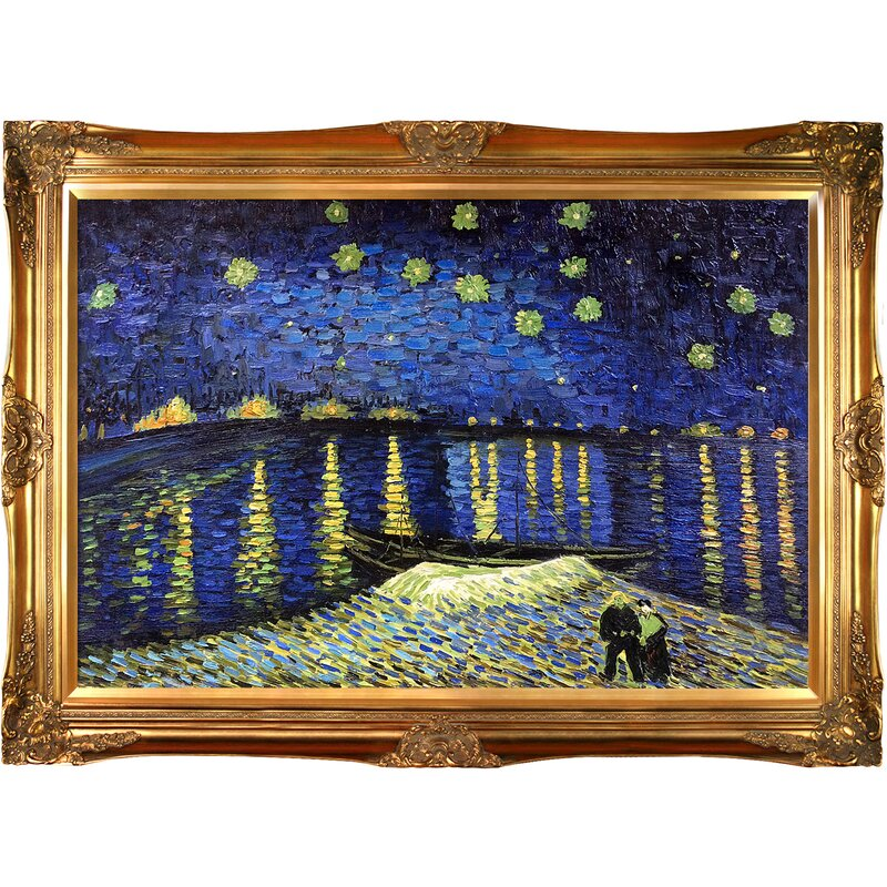 Fantastic Tori Home Starry Night Over the Rhone' by Vincent Van Gogh Framed  GH39