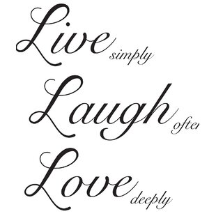 Marvelous Live Laugh Love Wall Decal