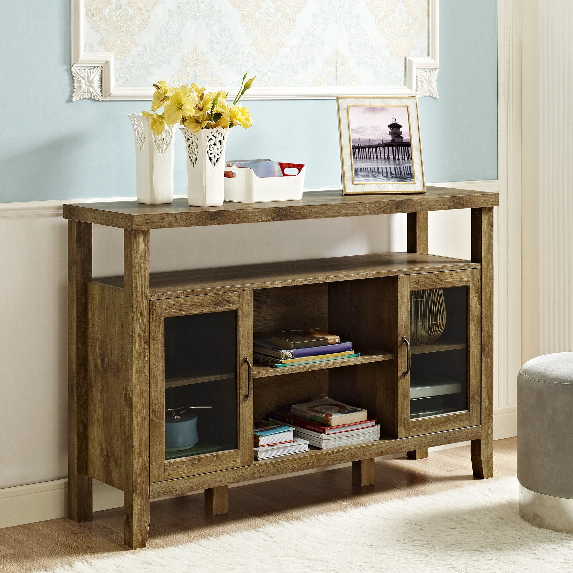 donnieann aeda sofa hollydale mission home today garden style chestnut sideboard product overstock shipping free table