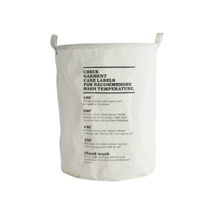 Laundry Bag with Washing Instructions by House Doctor